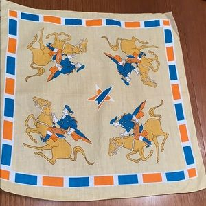 "Vtg ""Paul Revere"" cotton bandanna"